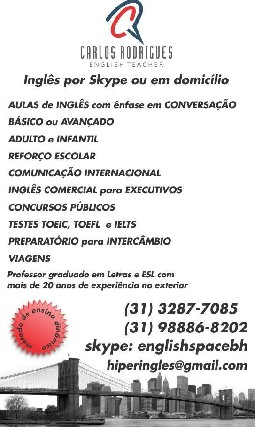 Curso de ingles executivo em  BH no Sta Efigenia
